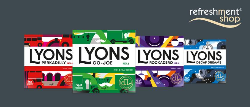Lyons Coffee bags introduce a revolutionary new way to enjoy freshly ground coffee.