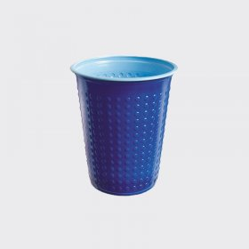7oz Bicolour Plastic Cold Drinks Cup Blue/Light Blue (40)