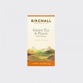 Birchall Green Tea & Peach (15 Prism Bags)