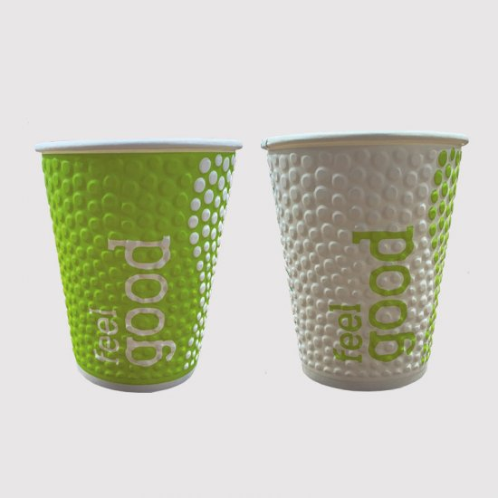 9oz Feel Good Bio Huhtamaki Paper Cups (875)