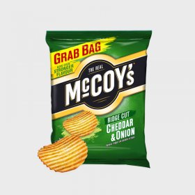 Mccoy's Cheese and Onion Ridge Cut Crisps Grab Bag (36)