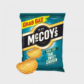Mccoy's Thai Sweet Chicken Ridge Cut Crisps Grab Bag (36)