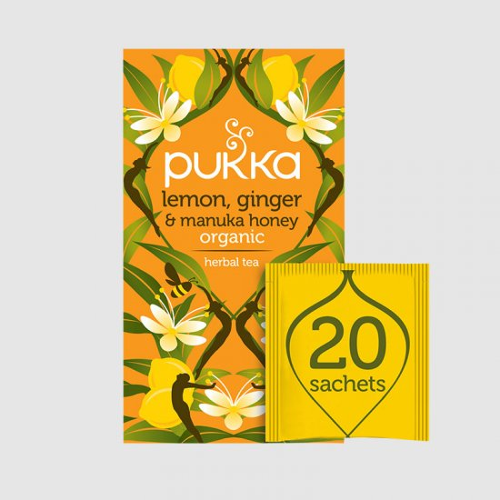 Pukka Tea Lemon Ginger & Manuka Honey (4 x 20)