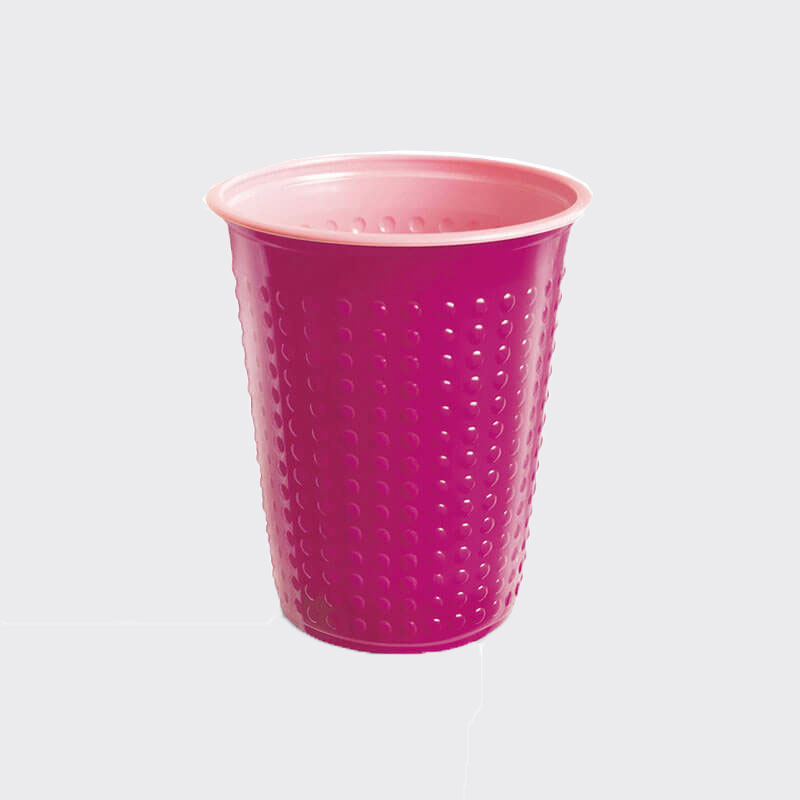 7oz Bicolour Plastic Cold Drinks Cup Fuchsia/Pink (40)