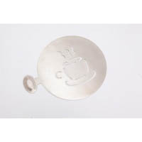 Coffee Art Stencil Coffee Cup Stainless Steel