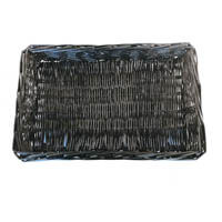 Black Rectangular Wicker Display Basket