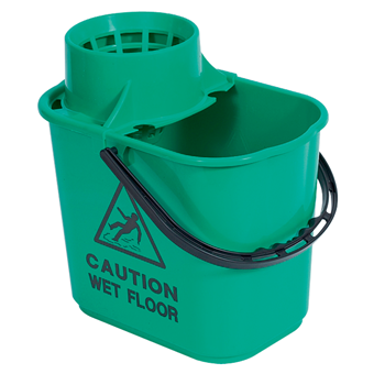 Green Professional Mop Bucket 15 litre