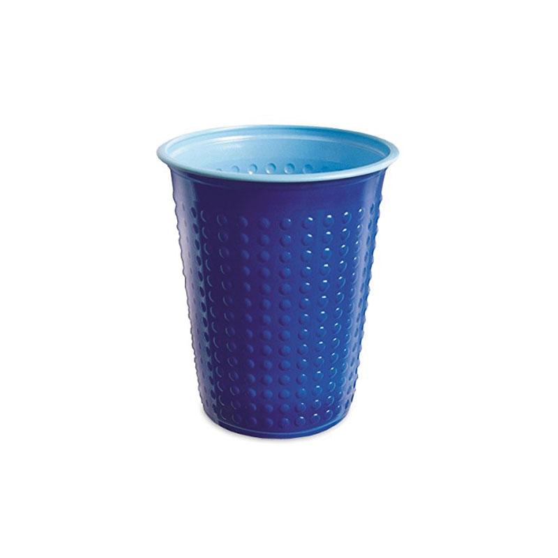 7oz Bicolour Plastic Cold Drinks Cup Blue/Light Blue (40)