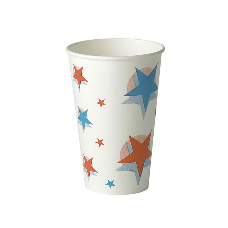 9oz star ball design cold drink paper cup 80 refreshment shop
