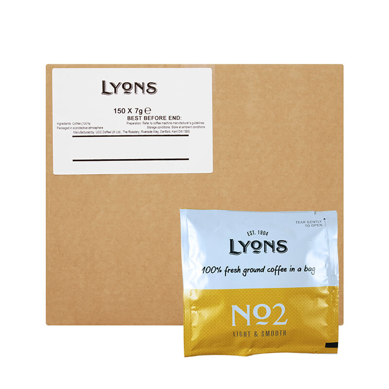 Lyons Coffee Bags No 2 (150) Bulk Box