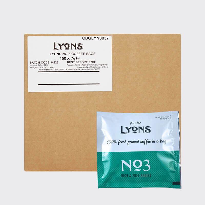 Lyons Coffee Bags No 3 (150) Bulk Box