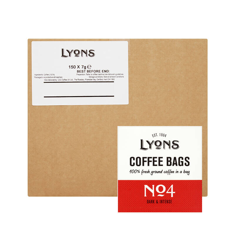 Lyons Coffee Bags No 4 (150) Bulk Box