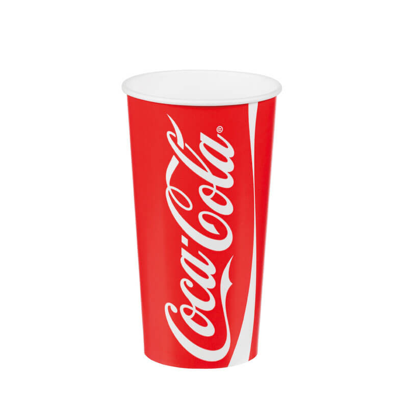 12oz Coca-Cola Cold Drink Paper Cups (100)