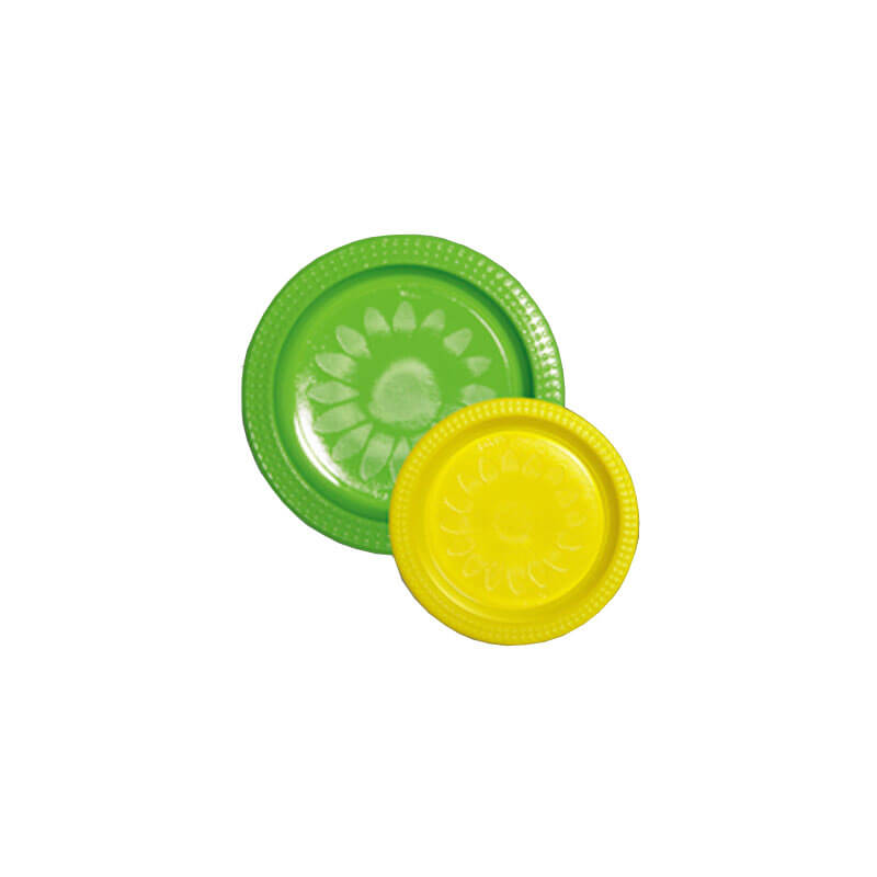 Green 22cm & Yellow 17cm Plastic Plate Pack (20+20)