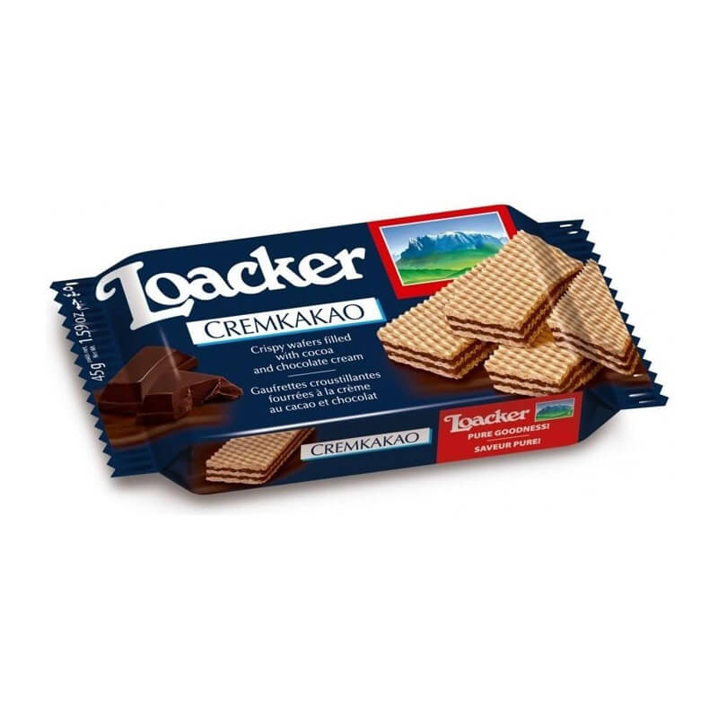 Loacker Cocoa Wafers (25)