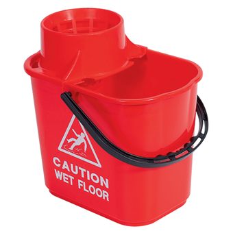 Red Professional Mop Bucket 15 litre
