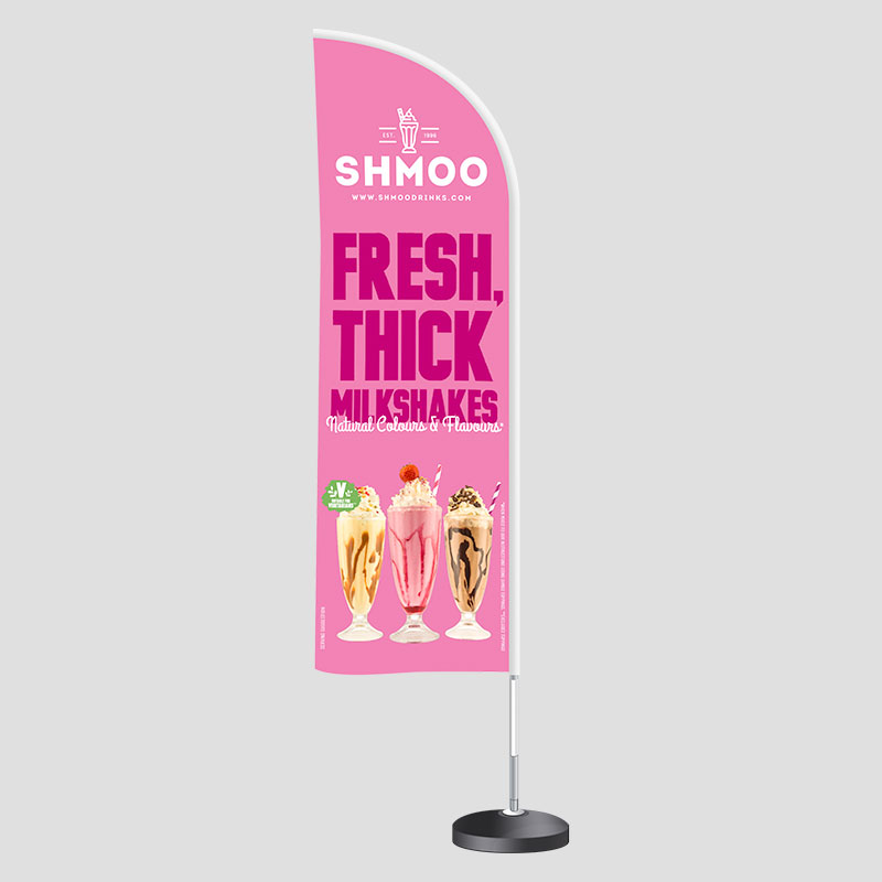 Shmoo Double Sided Beach Flag with Metal Base