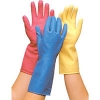 Household Rubber Gloves Large (1 Pair) Various Colours