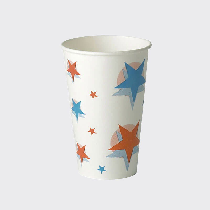 9oz Star/Ball Design Cold Drink Paper Cup (80)