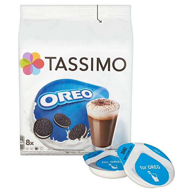Tassimo Oreo Hot Chocolate SHORT DATE (16 Discs - 8 Drinks)