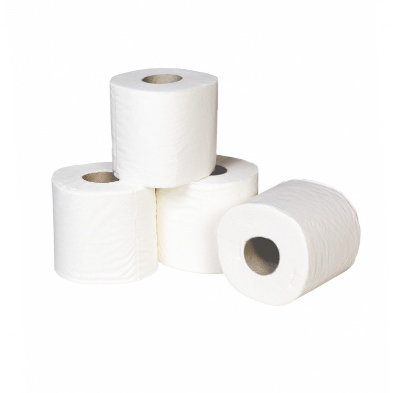 Pure White Quilted Toilet Tissue 4 Pack