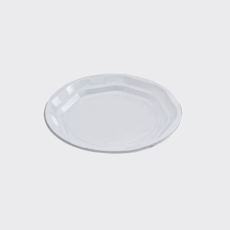 "15.5cm 6"" White Disposable Plates - 125"
